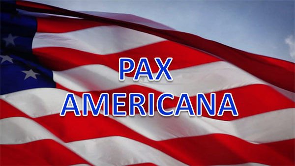 an analysis of pax americana in the united states On june 10, 1963, president john f kennedy delivered a commencement address at american university in washington, dc, in which he declared that the peace that the united states sought was not a pax americana enforced on the world by american weapons of war.