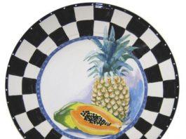 pineapple plate art