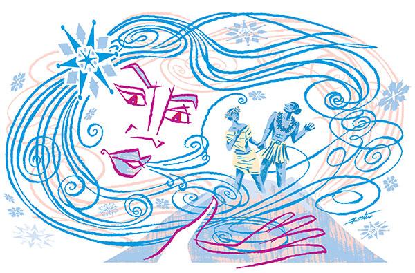 Snow goddess illustration