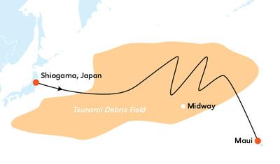 Japan tsunami debris chart