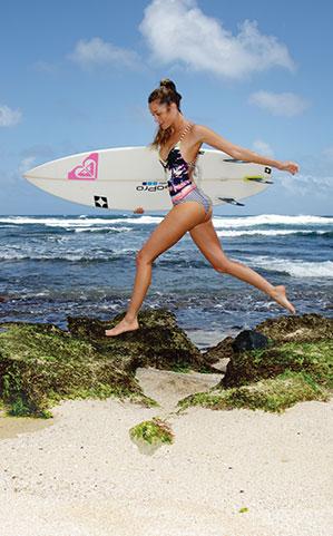 Maui Surfer Monyca Eleogram