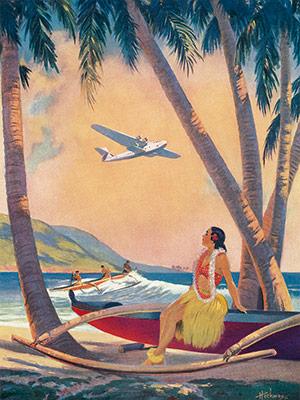 vintage hawaiiana postcard