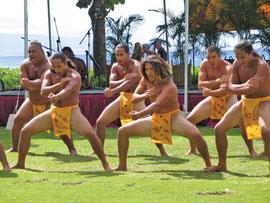 Hawaiian warrior dance
