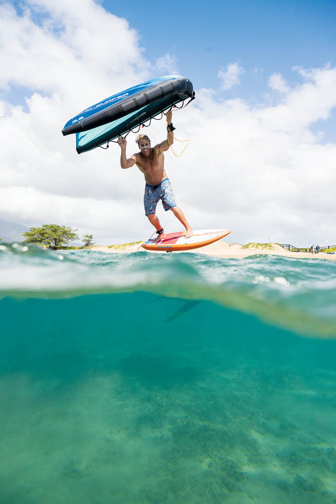 wing surfing maui
