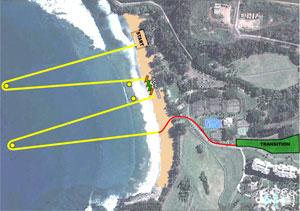 xterra swim map